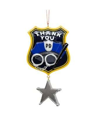 Thank you police officer ornament