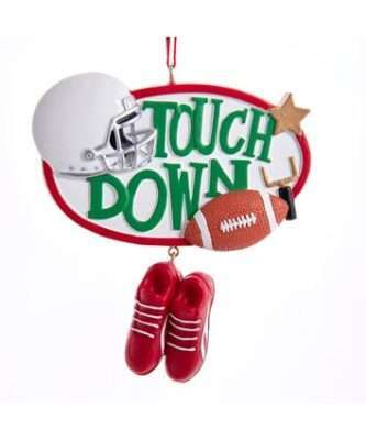 Touch Down football ornament