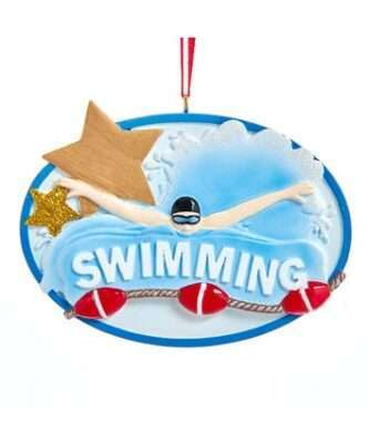 Swimming Ornament Personalized