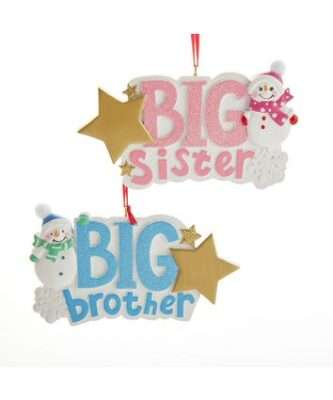Big Brother or Big Sister Ornament Personalized