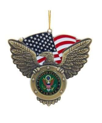 U.S. Army Seal ornament metal