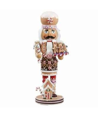 Gingerbread decorated wooden nutcracker