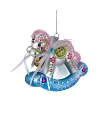 Baby's 1st Rocking Horse Glass Ornament
