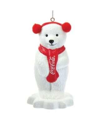 Coca-Cola® Polar Bear With Ear Muffs Ornament