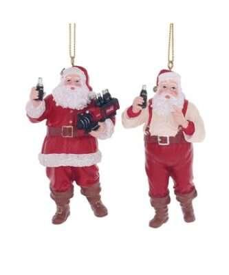 Coca-Cola® Santa Ornaments, 2 Assorted