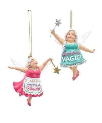 "Christmas Fairy ""Magic"" Grandma Ornaments, 2 Assorted"