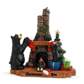 Christmas Eve 2 Bear Foot Bear Figurine