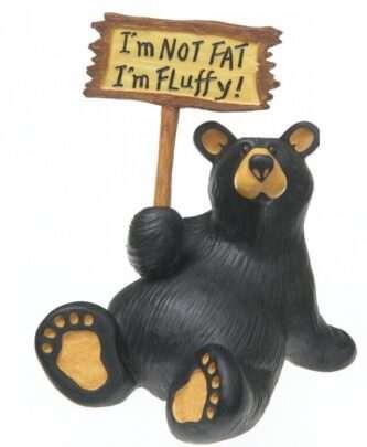 Bear Foot Bear Figurine Not fat Fluffy