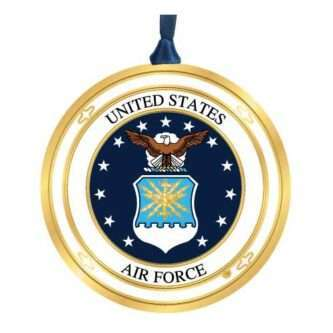 Handcrafted Military Ornament Made in the USA ornament featuring the United States Air Force Seal.