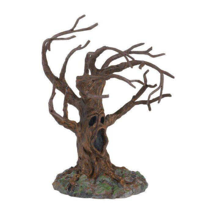 D56 Halloween Village Stormy Night Tree
