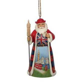 British Santa Ornament Jim Shore Heartwood Creek