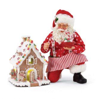 Gingerbread House Kit Santa two pieces set
