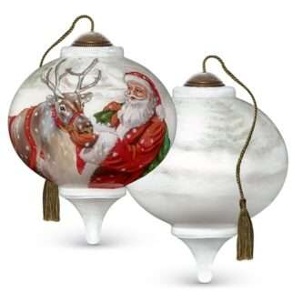 Christmas Treats, Hand-Painted Glass Ornament NeQwa