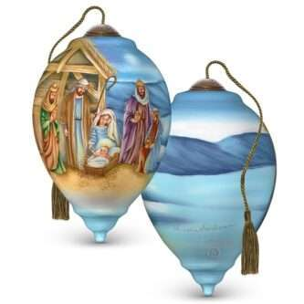 A Child Is Born, Hand-Painted Glass OrnamentNe'Qwa