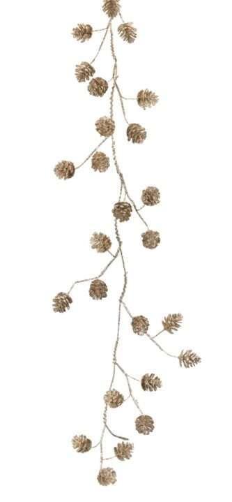 Five foot pinecone garland