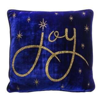 Royal Blue Joy Pillow