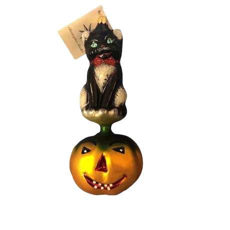 Radko Rare German made Kitty Patch Ornament