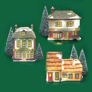 A Christmas Carol Cottages by D56 Rare Retired