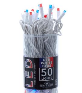 Red White Blue LED Lights