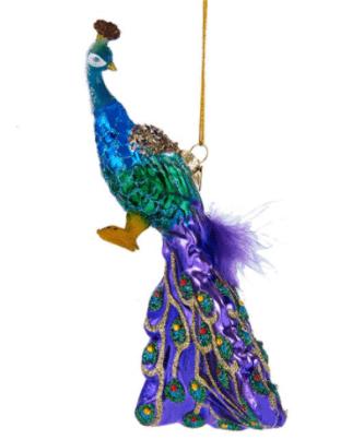 Peacock Glass Ornament