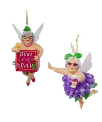 Christmas Wine Fairy Ornaments