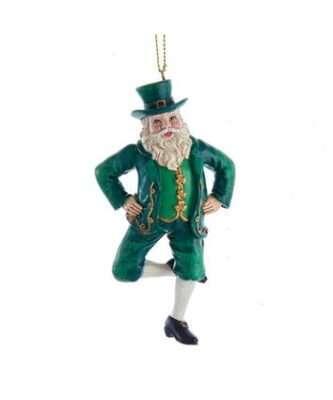 Dancing Irish Santa Ornament