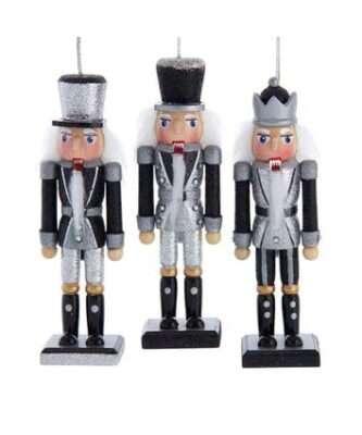 Black and Silver Nutcracker Ornaments