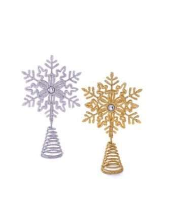 Miniature Silver and Gold Snowflake Treetop