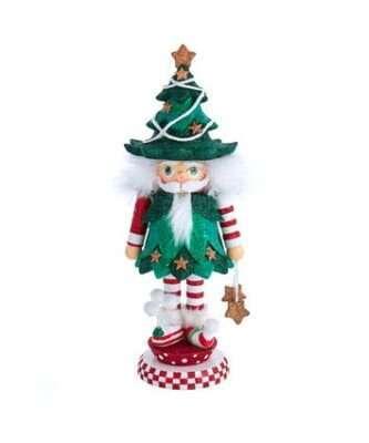 "12.5"" Hollywood™ Jolly Tree Christmas Hat Nutcracker"