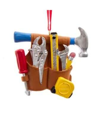 Hammer And Tool Belt Ornament