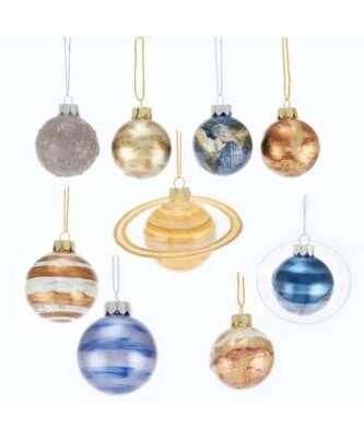 Solar System Glass Ornaments, 9-Piece Box Set