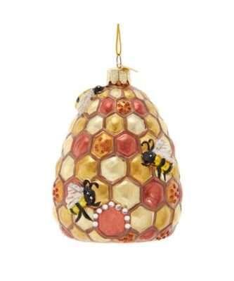 Bee-Hive Glass Ornament