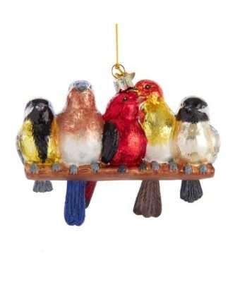 Glass Songbirds Ornament