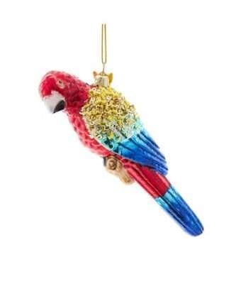 Glass Scarlet Macaw Ornament