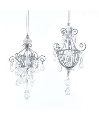 Acrylic Drop Chandelier Ornaments, 2 Assorted