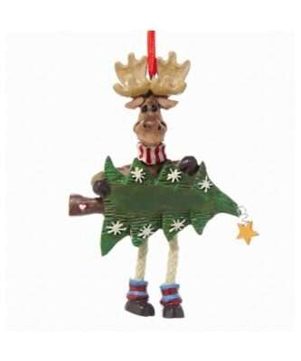 Dangle Leg Moose with Tree Personalized