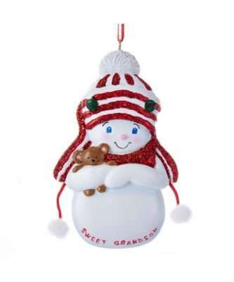 """Snowboy """"Sweet Grandson"""" Ornament For Personalization"""