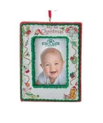 """My 1st Christmas"" Photo Frame Ornament"