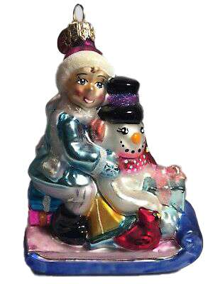 Rare Retired Radko Fritz and Frosty Ornament