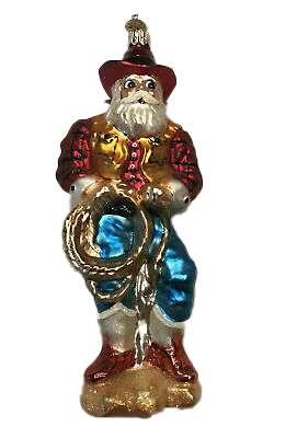 Rare Retired Radko Rootin' Tootin' Nick Ornament