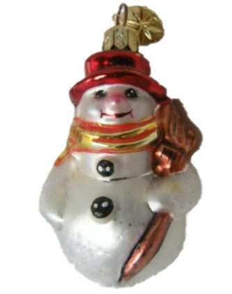 Radko Littlest Snowman rare retired little gem ornament