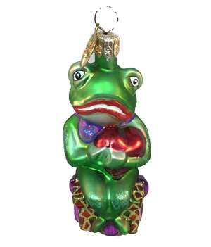 Rare Retired Radko Frog O' My Heart Little Gem Ornament