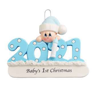 Baby's 1st Christmas 2021 Personalized ornament