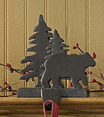 Bear and Tree Stocking Hanger
