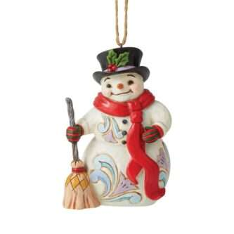 Snowman with Long Scarf Ornament Jim Shore Heartwood Creek