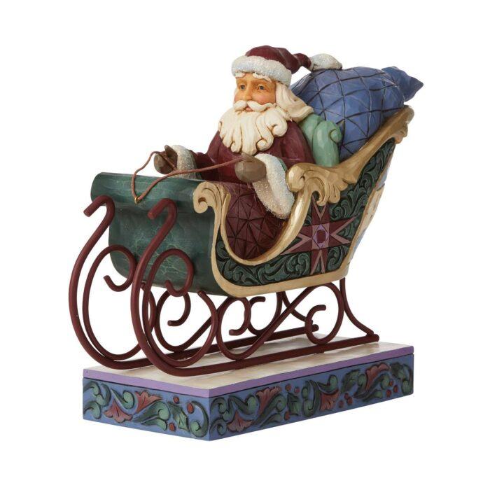 Jim Shore Worldwide Event Figurine Santa in Sleigh