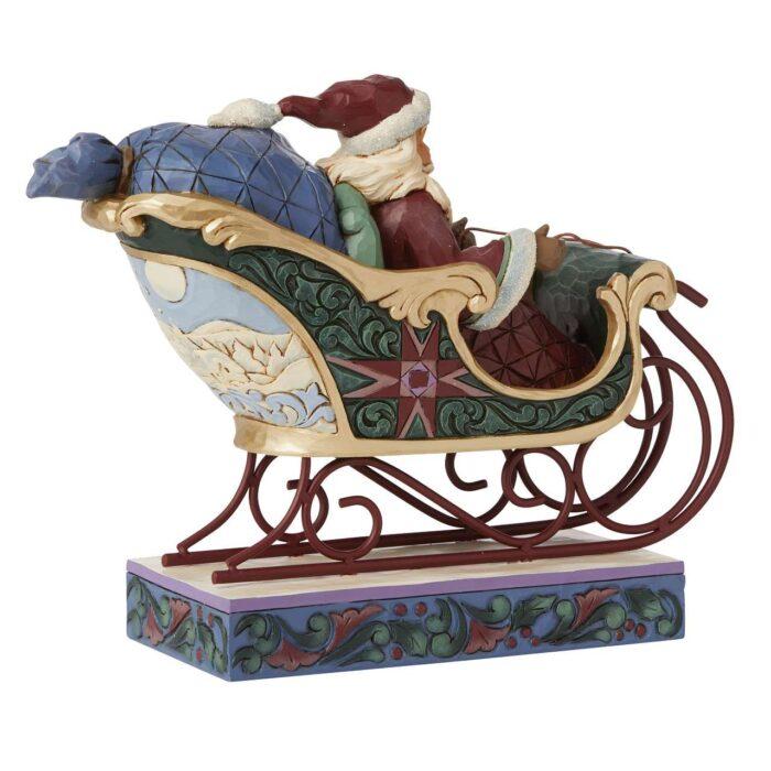 Back Jim Shore Worldwide Event Figurine Santa in Sleigh