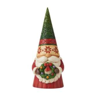 Christmas Gnome with Wreath Jim Shore Heartwood Creek