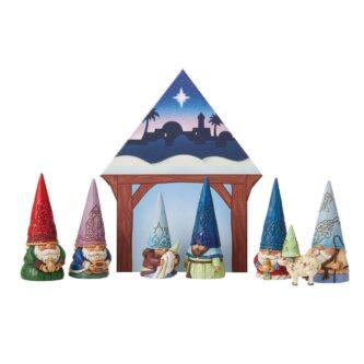 Gnome Christmas Pageant 8 Piece Set Jim Shore Heartwood Creek