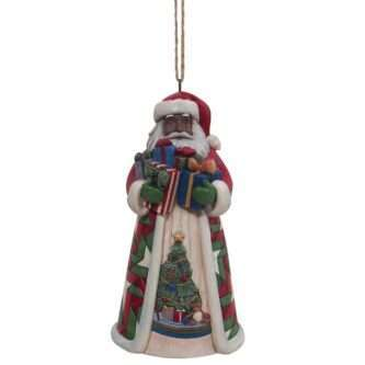 Santa With Arms Full Gifts AA Orn Jim Shore Heartwood Creek